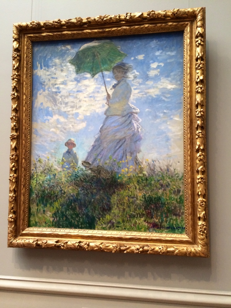 Monet Women with a parasol