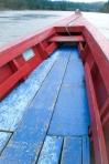 Barca utilizada para ir al sitio maya llamado Yaxchilan, Chiapas, Sur de México