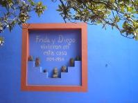 Casa azul de la pintora Frida Kahlo en Coyoacan, México DF
