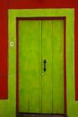 Puerta en el pueblo artesanal de Tlaquepaque, al este de México