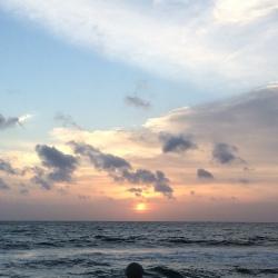 Atardecer en Colombo desde el Galle Face Hotel