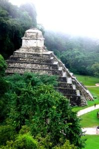 Escaleras de Palenque en Chiapas, México