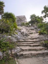 Escaleras de Tulum en Yucatán, México