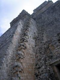 Escaleras de Uxmal en Yucatán, México