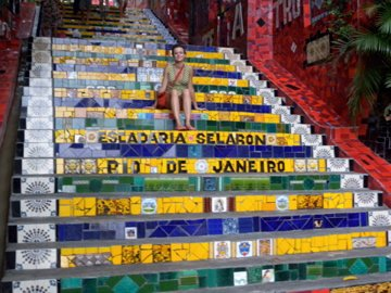 escaleras Selarón en Rio de Janeiro 2