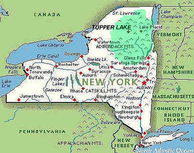 Mapa Estado Nueva York