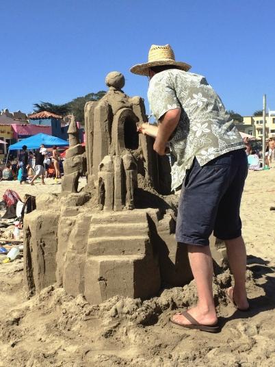 concurso de castillos de arena Begonia Festival 2