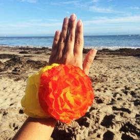 Mi mano decorada con Begonia