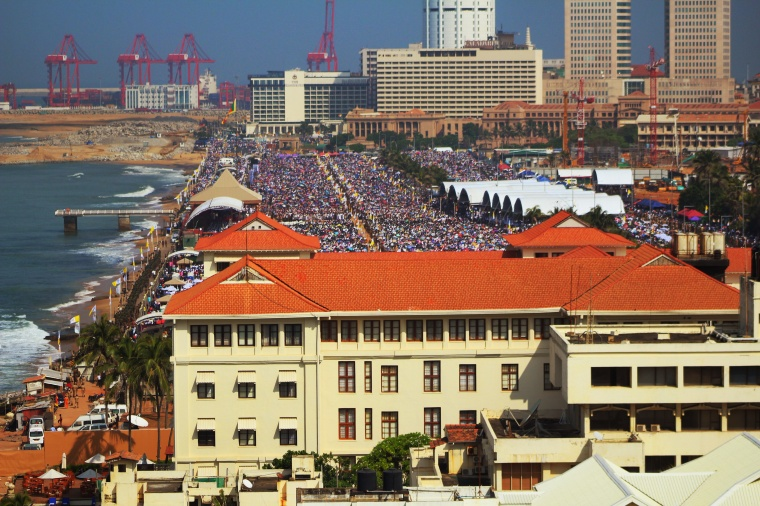 Galle Face Green misa Papa Francisco en Colombo Sri Lanka 2015