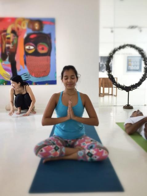 yo después de la clase de Yoga