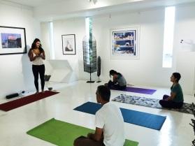 Clases de Yoga Galería Saskia Fernando
