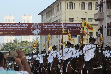 Marcha de caballos Papa Francisco en Sri Lanka