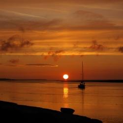 Puesta del sol Saint Valery Francia 3