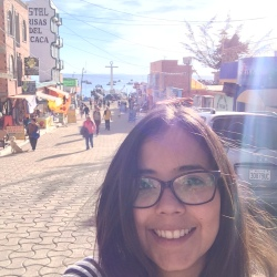 Rebeca en Copacabana Bolivia
