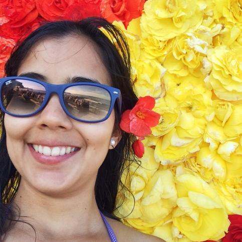 yo en el Begonia Festival