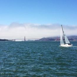 vista del Puente Golden Gate desde el Aquatic Park Pier