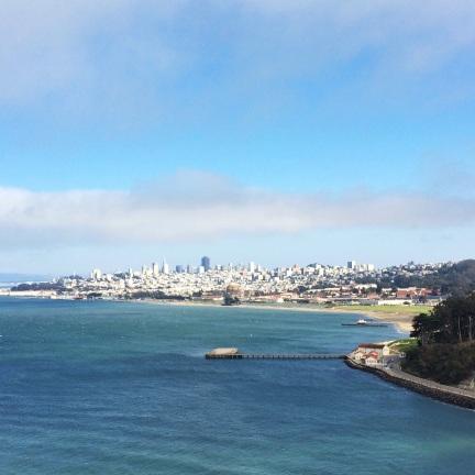 vista de la ciudad desde el Golden Gate