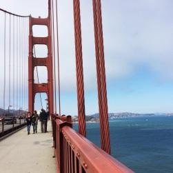 Sobre el Puente Golden Gate