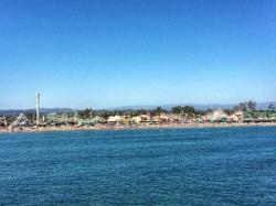 Vista del Boardwalk desde el mar