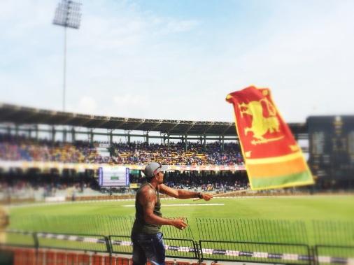 fanatico del equipo de cricket de Sri Lanka