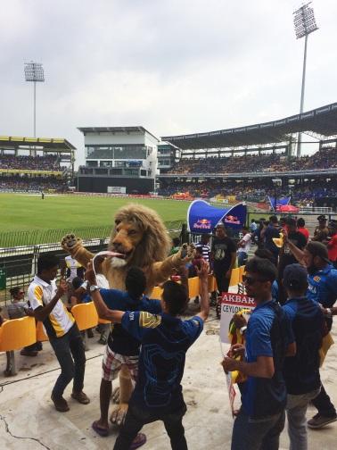mascota del equipo de Cricket de Sri Lanka