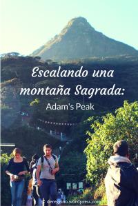 Escalando una montaña Sagrada Adams Peak