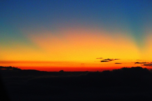 Amanecer en el Adam's Peak
