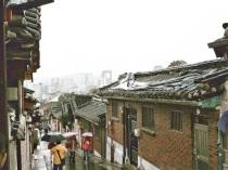 Vista de Seúl desde Buckchon Hanok Village