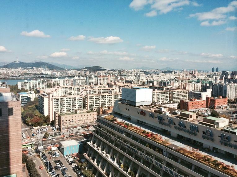 Vista de Seúl desde Gangnam