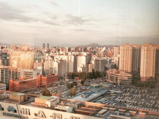 Atardecer en Seúl desde Gagnam 2