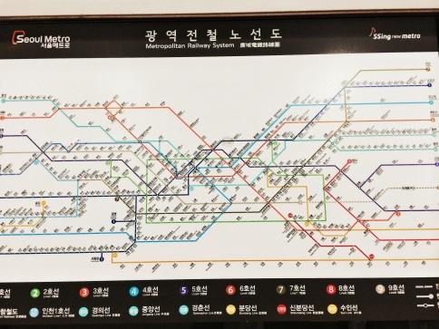 mapa metro de Seúl