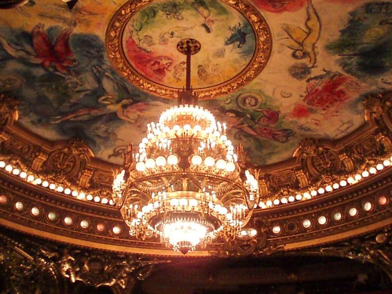 Pintura de Chagall en el techo del Ópera Garnier