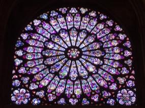 Vidriera en Notre Dame