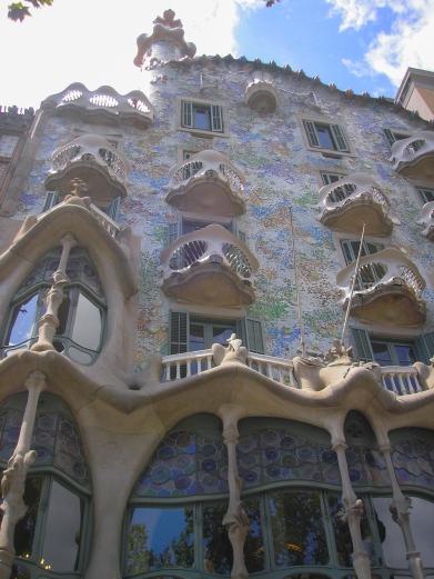 Casa Battlo de Antoni Gaudí, Barcelona, España