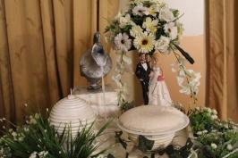 El Milkrice hace el papel de la torta, en una boda en Sri Lanka