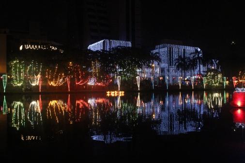 Los edificios támbien se unieron al festival