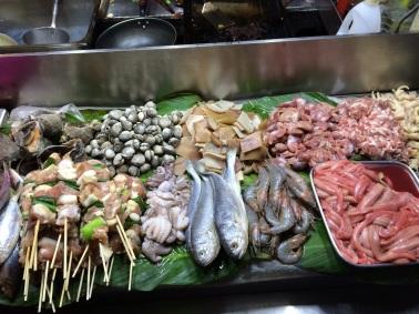 mariscos frescos en Mercado de Namdaemun