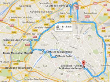 mapa exposiciones paris