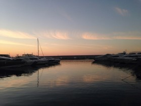 Beruit atardecer en Bahía de San Jorge