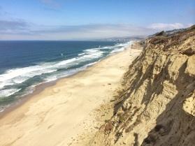 San Mateo beach Highway 1 California