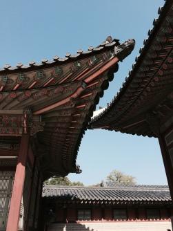 Techos coreanos puntiagudos