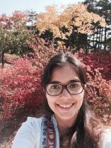 selfie con los colores de otonho
