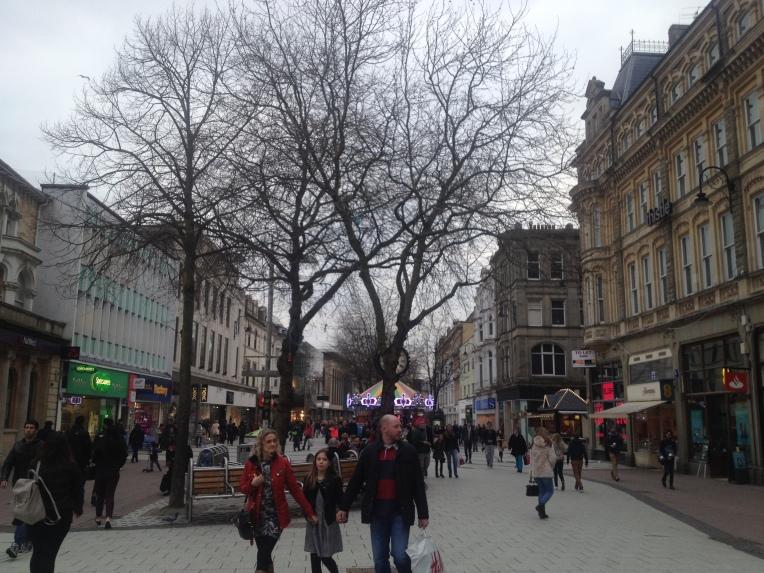 Queen St en Cardiff
