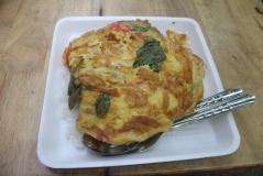 Omelette tailandés con arroz