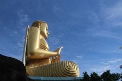 Estatua de Buda en Dambulla, Sri Lanka