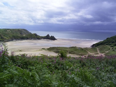 Foto de Three Cliffs (tomada de commons.wikimedia.org)