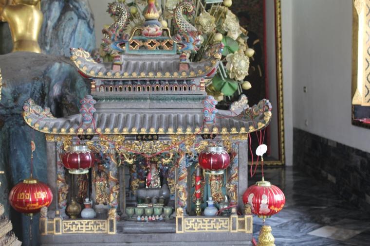 Casa para el Guardián de los templos en el complejo de Wat Pho en Bangkok