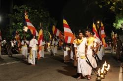 Bandera budista creada en Sri Lanka