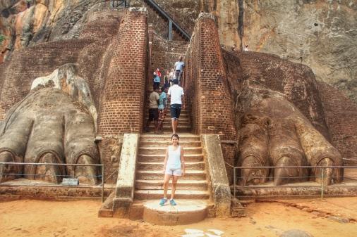 Yo en el León de Sigiriya