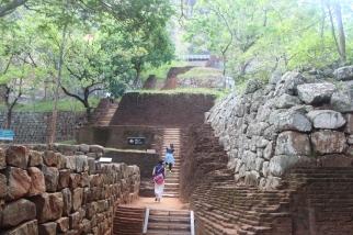 escaleras a Sigiriya
